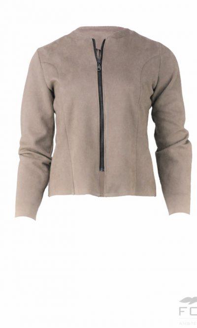 Sue Beige jacket zip