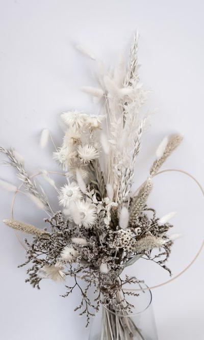 droogbloemen wit